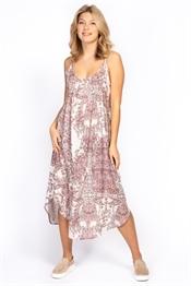 Bild på Geneva Dress Rose/Sand/Spring Green